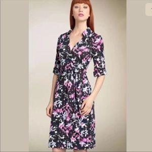 ❤️ NWT DVF 100% Silk Floral Wrap Dress